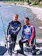 Mike & Jason taking time out to try fishing in the Rockies.